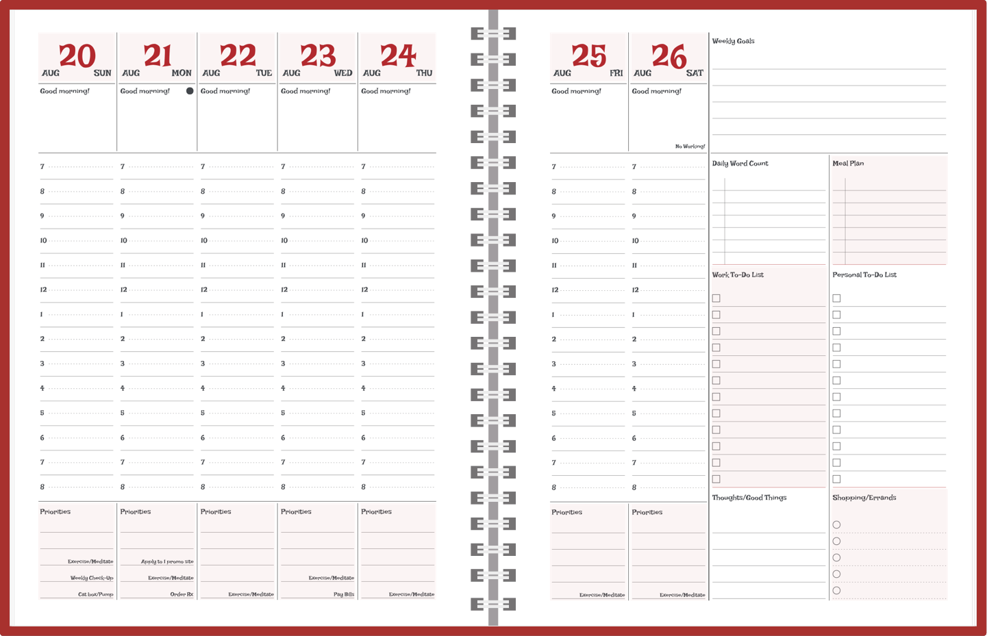 customizable standard and personal year planners agendio com