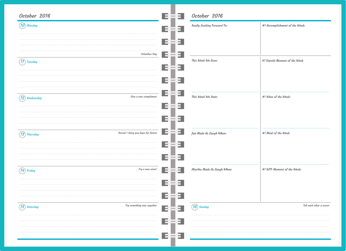 graphic relating to Page a Day Planners named Customizable Planners
