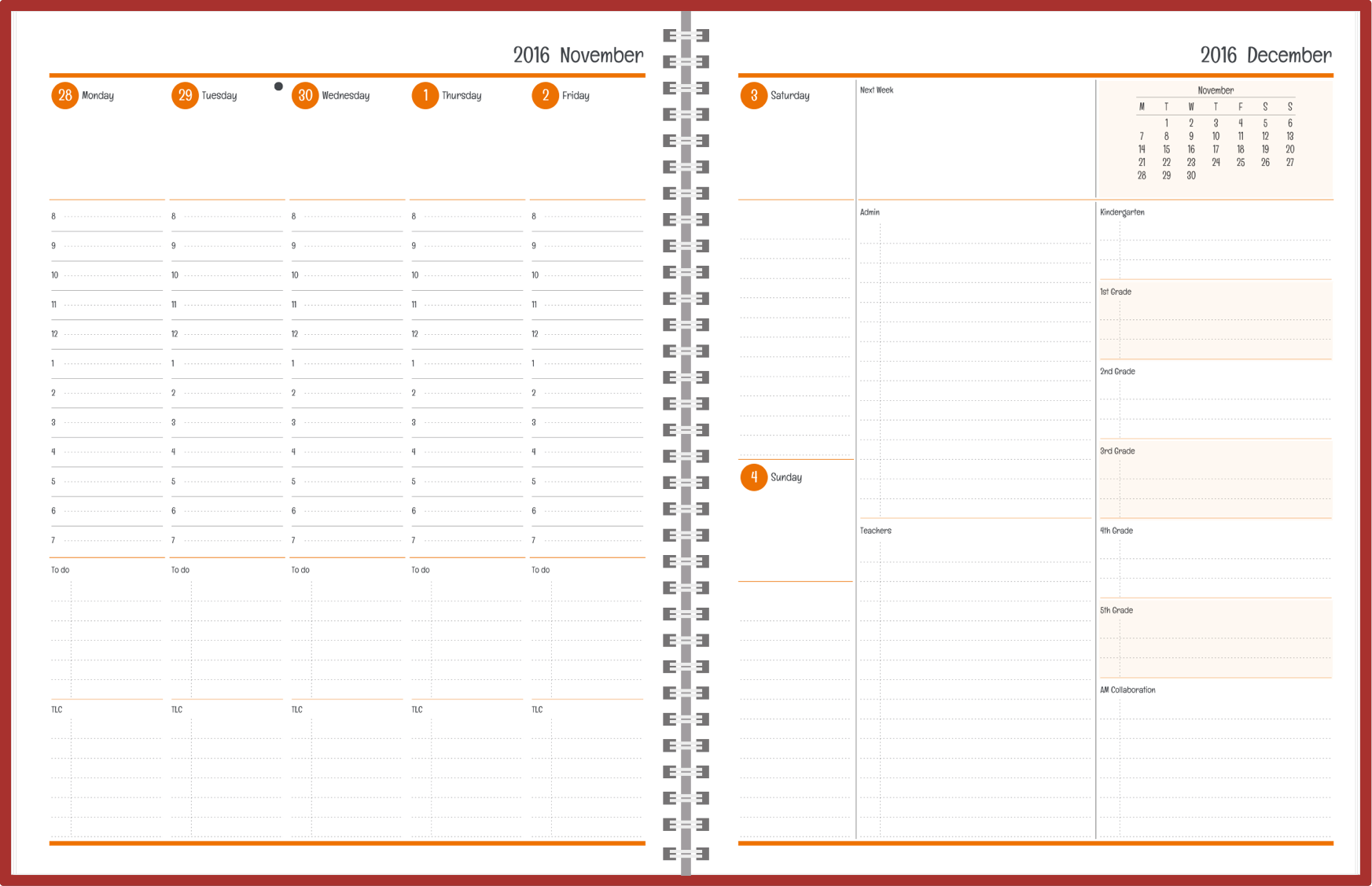 customizable standard and personal year planners agendiocom